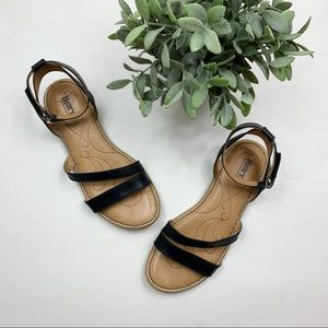 Born toe and ankle strap leather sandals